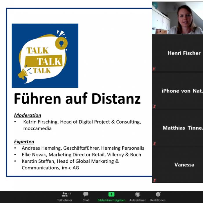 """Katrin Firsching als Moderatorin zum Thema """"Führen auf Distanz"""""""